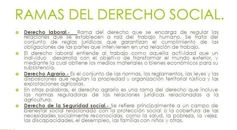 Clasificación del Derecho Social 2