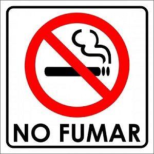 Un signo de no fumar